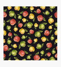 Apples on a black background Photographic Print