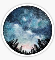 Watercolor Forest Circle Sticker