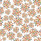 Abstract colorful flowers on white background. by Elsbet