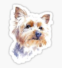 Yorkshire Terrier Watercolor Sticker
