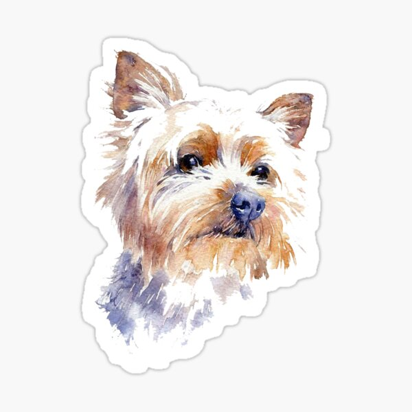 Yorkshire Terrier Watercolor Sticker