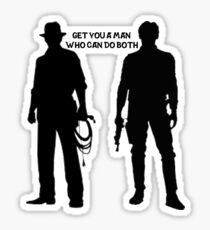 Harrison Ford - Get You a Man Who Can Do Both Sticker
