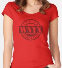 WNYX 585 AM New York Women's Fitted Scoop T-Shirt