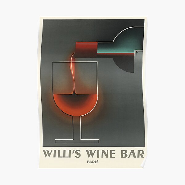 WINE A BIT YOU/'LL FEEL BETTER TRAVERSE CITY MICHIGAN WINERY VINTAGE POSTER REPRO