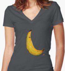 Banana Nose Women's Fitted V-Neck T-Shirt