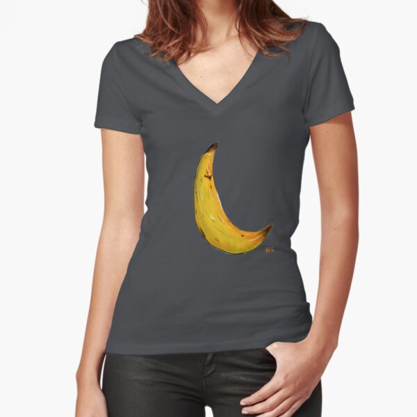Banana Nose Fitted V-Neck T-Shirt