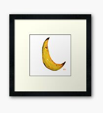Banana Nose Framed Print