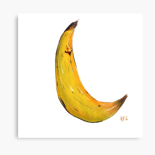Banana Nose Metal Print