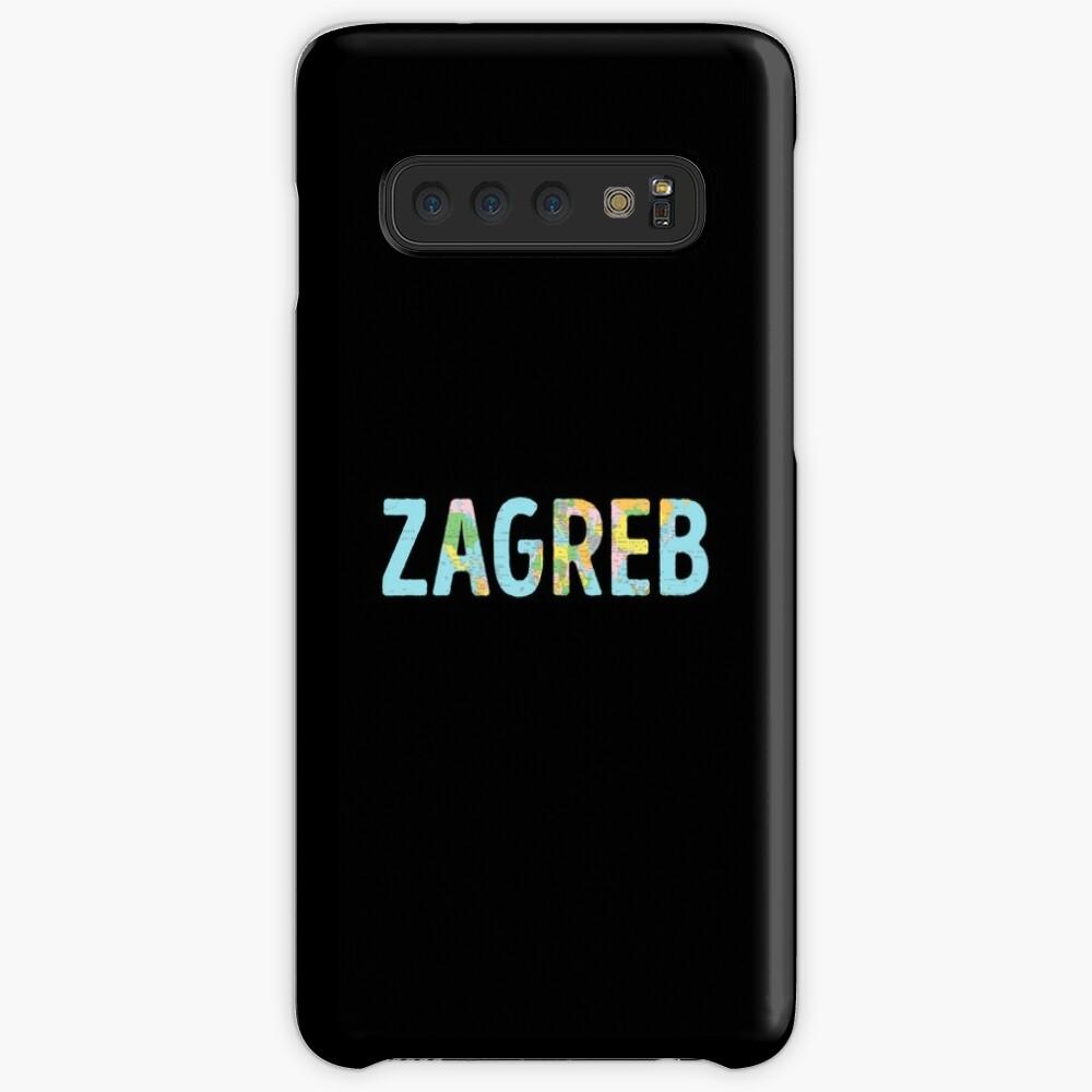 Zagreb World Map - Cool Croatia Traveler Gift Hülle & Klebefolie für Samsung Galaxy