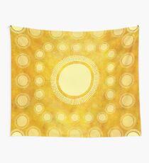 "Tela decorativa ""Gold & Yellow Ethnic Sun (Pattern)"""