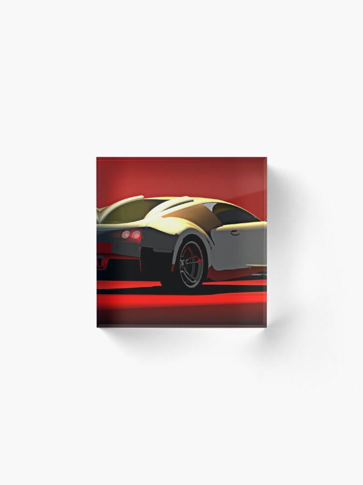 Alternate view of Bugatti Veyron Acrylic Block