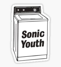 sonic youth milk carton sticker Sticker