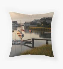 Wychmere Harbor Sunrise Throw Pillow