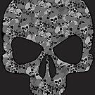 Camo Skull (gray) by PixelBoxPhoto