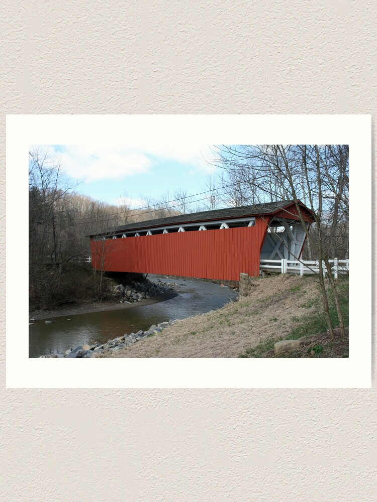 Alternate view of Covered Bridge Art Print