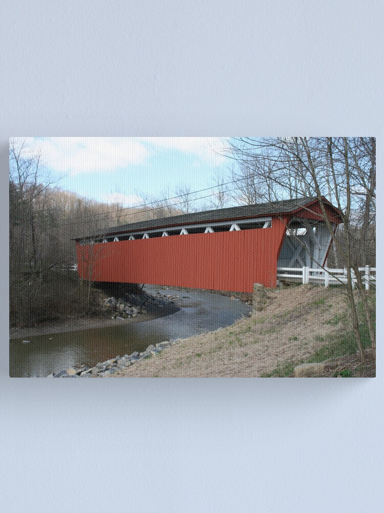 Alternate view of Covered Bridge Canvas Print