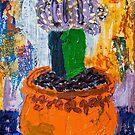 Purple studio cactus by HelenAmyes
