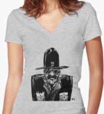 State Trooper Fitted V-Neck T-Shirt