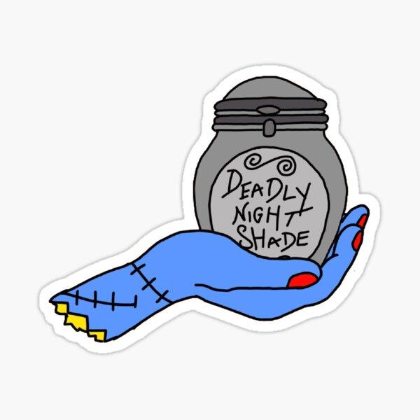 sally's deadly nightshade  Sticker