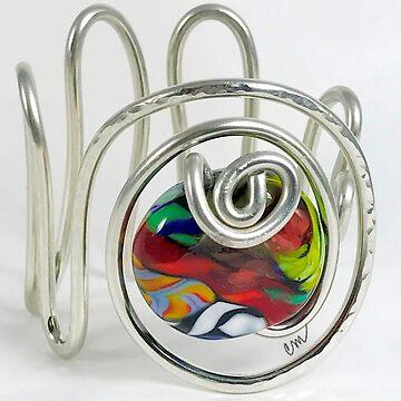 Venetian Glass in Silver Swirls by Camillemeola