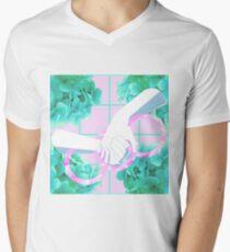 Let Genderqueer Boys have Flowers!.. (Pink) V-Neck T-Shirt