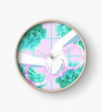 Let Genderqueer Boys have Flowers!.. (Pink) Clock