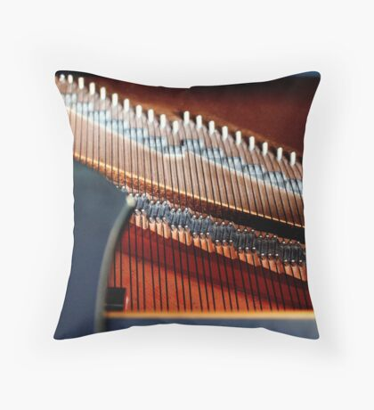Inside the Grand Piano Throw Pillow
