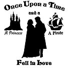 "Captain Swan ""A Princess and a Pirate"" Silhouette Design  by Marianne Paluso"