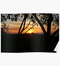 Adelaide Hills Sunset. Poster