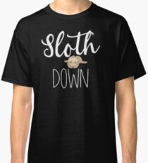 Slow Sloth Down Lazy Procrastinate Gifts Procrastination Tee Classic T-Shirt
