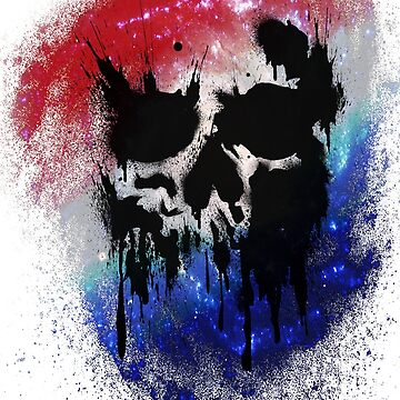 Skull Drip (red, white, blue) by PixelBoxPhoto