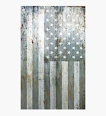 Silver American Flag Photographic Print