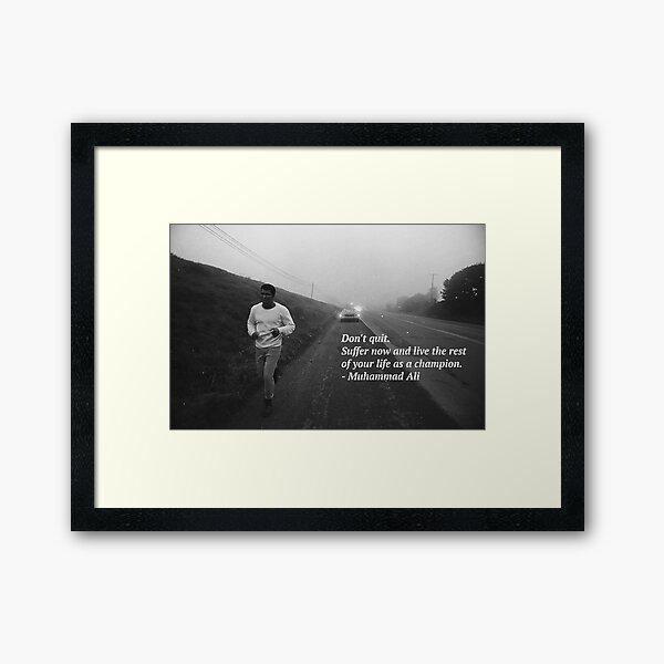 Muhammad Ali Framed Art Print