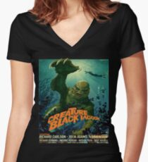 The Creature From The Black Lagoon Modern Women's Fitted V-Neck T-Shirt