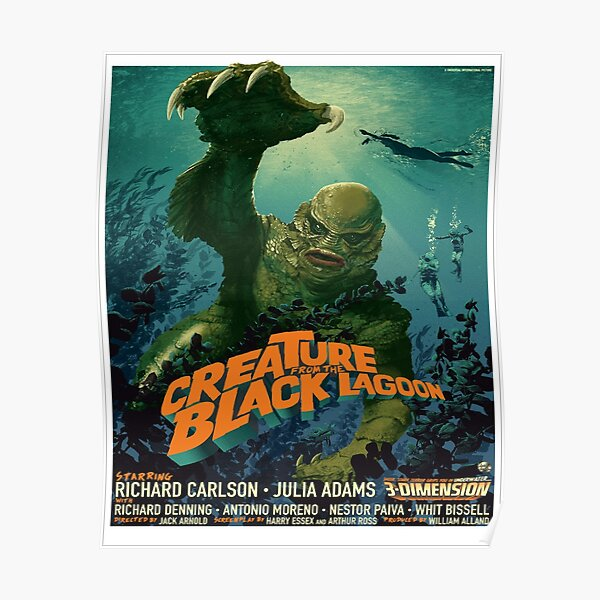 The Creature From The Black Lagoon Modern Poster