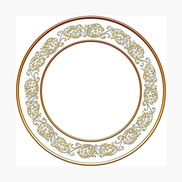 Saucers Pattern Photographic Print