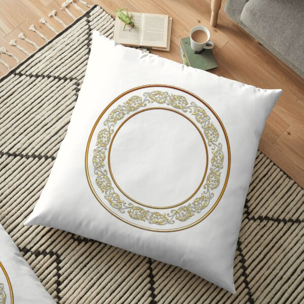 Saucers Pattern Floor Pillow