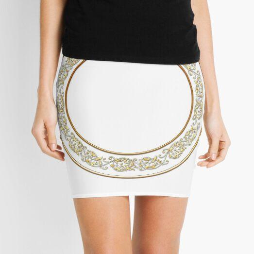 Saucers Pattern Mini Skirt