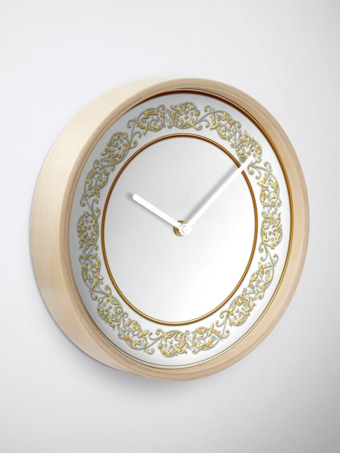 Alternate view of Saucers Pattern Clock