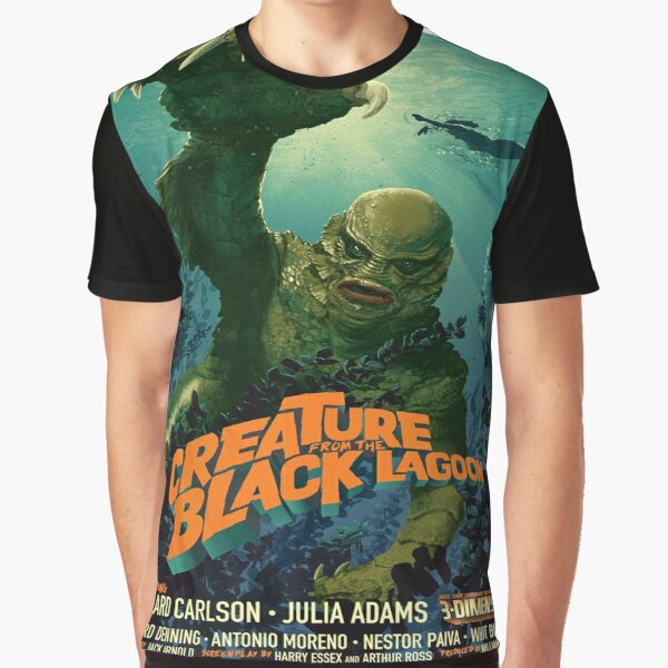 CREATURE FROM THE BLACK LAGOON T SHIRT FILM MOVIE RETRO VINTAGE 1950/'S CULT