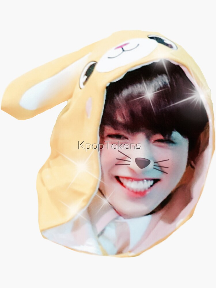 Etiqueta engomada linda de BTS Jungkook (4to muster, onesie divertido) Bunny Jeon Jungkook de KpopTokens