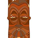 African wood mask  by Elsbet
