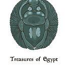 Lapis lazuli scarab - treasures of Egypt by Elsbet
