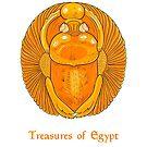 Golden scarab - treasures of Egypt by Elsbet