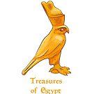 Golden Horus bird - treasures of Egypt by Elsbet