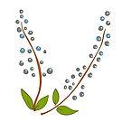 Retro Botanical design by Elsbet