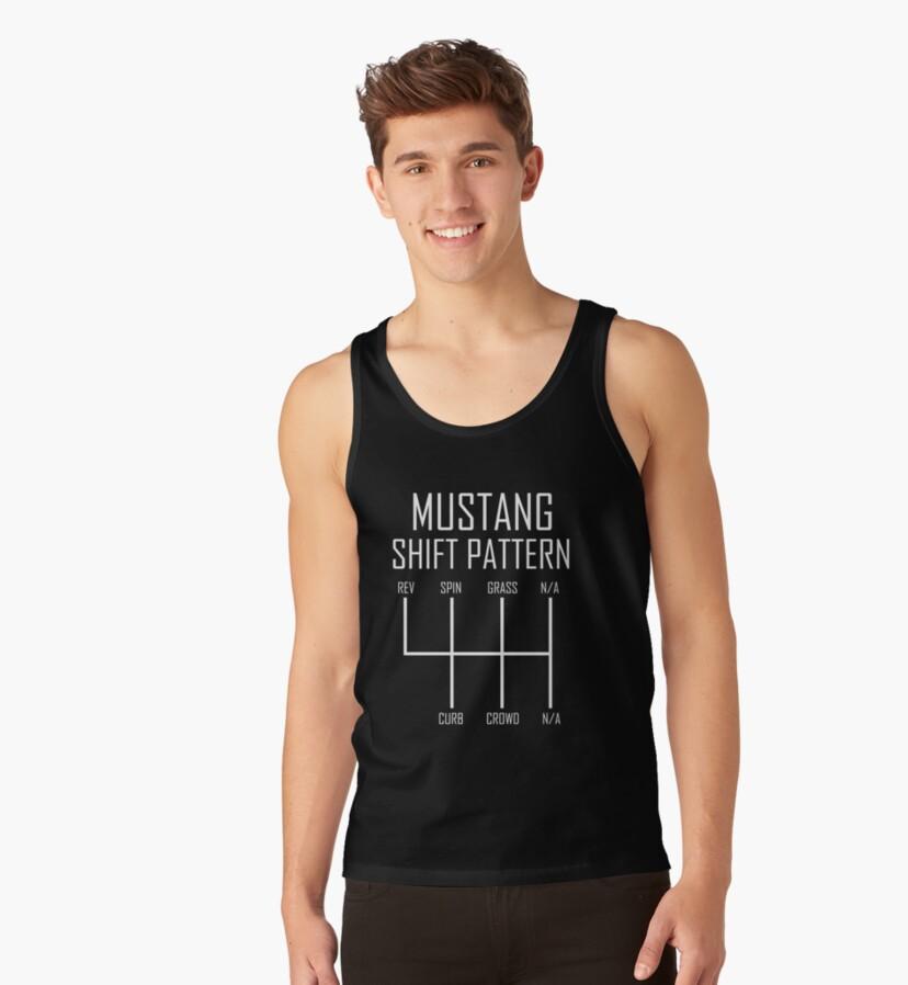 Mustang Shift Pattern Slim Fit TShirt Gift Trending Design T Shirt