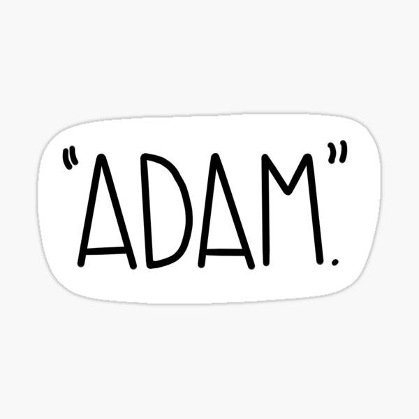 """""""Adam"""" Vine Reference Sticker Sticker"""