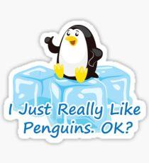 Funny Penguin for Kids boys girls men women Sticker