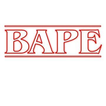 Bape Stranger Things Title by charlie-